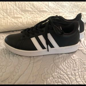 Adidas Womens Advantage Striped Shoes Sneakers